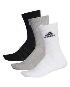 Shop adidas Performance Cushioned Crew Socks 3 Pack Black Grey White at Studio 88 Online