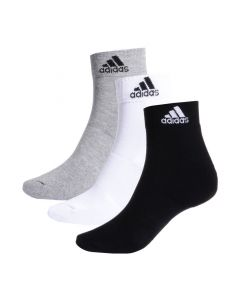 Shop adidas Performance 3S Socks 3 Pack Grey Black at Studio 88 Online