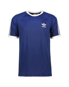 Shop adidas Originals 3 Stripe T-shirt Mens Night Sky Blue at Studio 88 Online