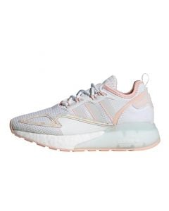 Shop adidas Originals ZX 2K Boost Youth Sneaker Cloud White Coral at Studio 88 Online