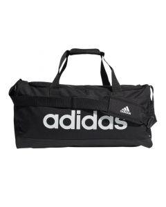 Shop adidas Performance Essentials Logo Duffel Bag Black White at Studio 88 Online