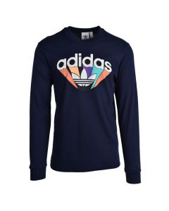 Shop adidas Originals Long Sleeve Summer Shirt Mens Ink Blue at Studio 88 Online