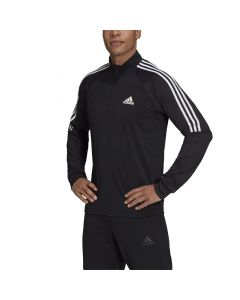 Shop adidas Performance Sereno 1/4 Zip Training Top Mens Black White at Studio 88 Online