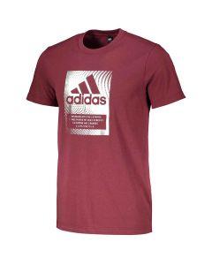 Shop adidas Performance BOS T-shirt Mens Crimson Silver Foil at Studio 88 Online