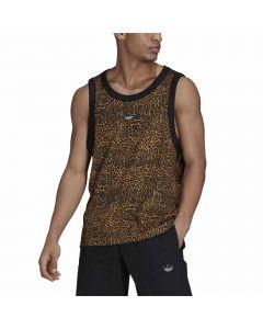 Shop adidas Originals Animal Print Vest Mens Beige Tone Mesa Black at Studio 88 Online
