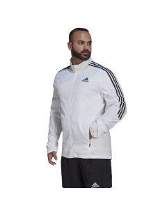 Shop adidas Performance Marathon 3-Stripes Jacket Mens White Black at Studio 88 Online
