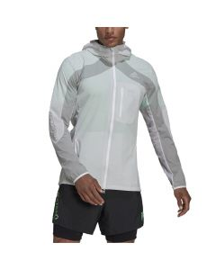 Shop adidas Performance Adizero Marathon Jacket Mens White Grey at Studio 88 Online