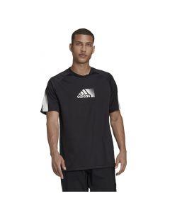 Shop adidas Performance Designed to Move Sport T-shirt Mens Black White at Studio 88 Online