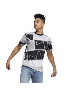 Shop adidas Originals Logo Play T-shirt Mens Black Grey White at Studio 88 Online
