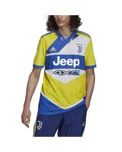 Shop adidas Performance Juventus 21/22 Third Replica Jersey Shock Yellow Res Blue at Studio 88 Online