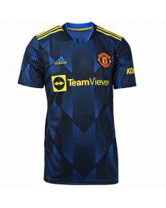 Shop adidas Performance Manchester United 21/22 Third Replica Jersey Mens Glory Blue at Studio 88 Online