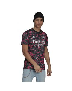 Shop adidas Performance Arsenal Pre-Match Replica Jersey Pink Dgh Solid Grey Black at Studio 88 Online