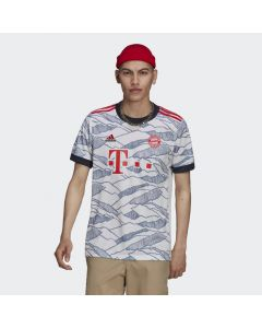 Shop adidas Performance FC Bayern 21/22 Third Replica Jersey White Red at Studio 88 Online