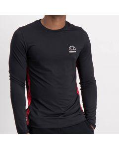 Shop ellesse Contrast Long Sleeve Shirt Mens Black Red at Studio 88 Online