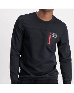 Shop ellese Pocket Detail Long Sleeve T-shirt Mens Black at Studio 88 Online