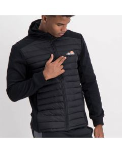 Shop ellesse Mixed Fabric 1/2 Padded Jacket Mens Black at Studio 88 Online