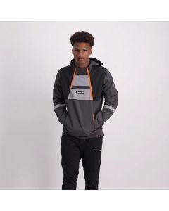 Shop ellesse Contrast Col Zip Jacket Mens Charcoal Black Orange at Studio 88 Online