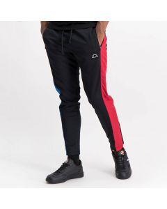 Shop ellesse Mix Split Panel Track Pants Mens Black Blue Red at Studio 88 Online