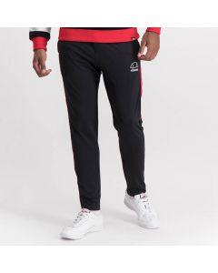 Shop ellesse Leg Panel Track Pants Mens Black Red at Studio 88 Online