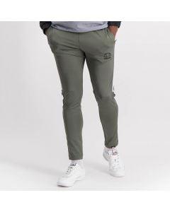 Shop ellesse Leg Panel Track Pants Mens Charcoal White at Studio 88 Online