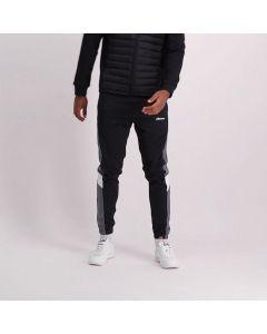 Shop ellesse Mixed Leg Panel Track Pants Mens Black Charcoal Grey at Studio 88 Online