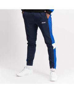 Shop ellesse Mixed Fabric Leg Panel Track Pants Mens Dress Blue at Studio 88 Online