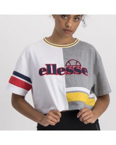 Shop ellesse Gabriella Crop Top Womens Multi Color White Grey at Studio 88 Online