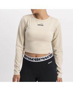 Shop ellesse Donatella Crop Long Sleeve Top Womens Tan at Studio 88 Online
