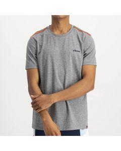 Shop ellesse Striped Shoulder Tape T-shirt Mens Grey at Studio 88 Online