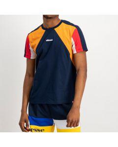 Shop ellese Colour Block T-shirt Mens Dress Blue Yellow Scarlet at Studio 88 Online