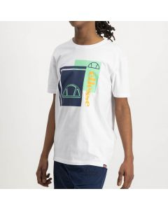 Shop ellesse Logo T-shirt Mens Bright White Dress Blue Jade Cream at Studio 88 Online