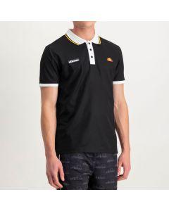 Shop ellesse Con Tip Collar Bind Pique Golfer Mens Black White at Studio 88 Online