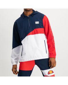 Shop ellesse Fabrication 3/4 Hooded Jacket Mens Dress Blue Scarlet Red at Studio 88 Online