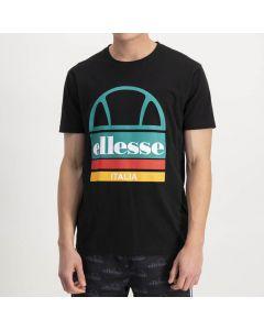 Shop ellesse Italia Large Logo Print T-shirt Mens Black at Studio 88 Online