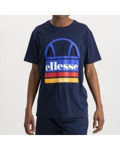 Shop ellesse Italia Large Logo Print T-shirt Mens Dress Blue at Studio 88 Online