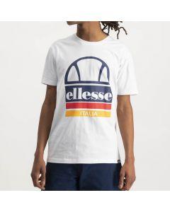 Shop ellesse Italia Large Logo Print T-shirt Mens White at Studio 88 Online