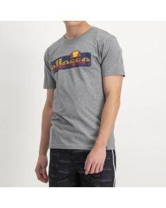 Shop ellesse Striped Logo Print T-shirt Mens Grey at Studio 88 Online