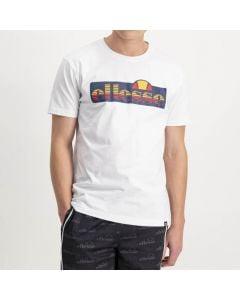 Shop ellesse Striped Logo Print T-shirt Mens White at Studio 88 Online