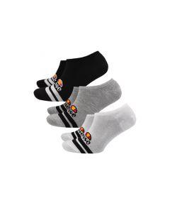 Shop ellesse Footsies 3 Pack Black White Grey at Studio 88 Online