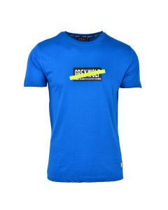 Shop Grey Wolf Tape Detail T-shirt Men Classic Blue at Studio 88 Online