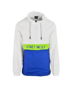 Shop Grey Wolf Panel Side Zip Jacket Men White Blue at Studio 88 Online