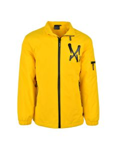 Shop Grey Wolf Printed Padded Jacket Men Soalar Power Yellow at Studio 88 Online