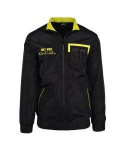 Shop Grey Wolf X 25K The Plug Ghetto Angel Jacket Men Black at Studio 88 Online