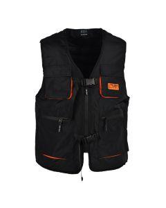 Shop Grey Wolf Buckled Sleeveless Jacket Mens Black at Studio 88 Online
