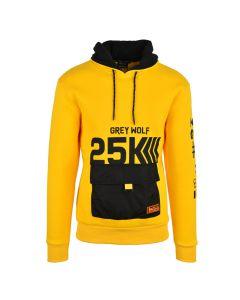 Shop Grey Wolf X 25K The Plug Nylon Pocket Hoodie Men Solar Power Yellow at Studio 88 Online