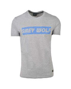 Shop Grey Wolf StatueT-shirt Mens Grey at Studio 88 Online