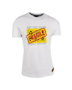Shop Grey Wolf X 25K The Plug Fragile T-shirt Men White at Studio 88 Online