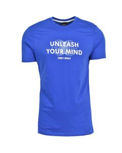 Shop Grey Wolf Globe T-shirt Mens Nautical Blue at Studio 88 Online