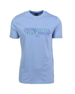 Shop Grey Wolf 3D Logo T-shirt Mens Belair Blue at Studio 88 Online