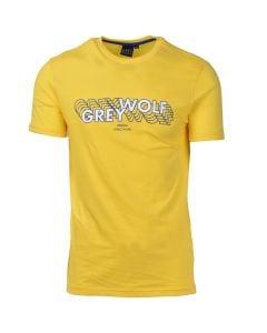 Shop Grey Wolf 3D Logo T-shirt Mens Cyber Yellow at Studio 88 Online